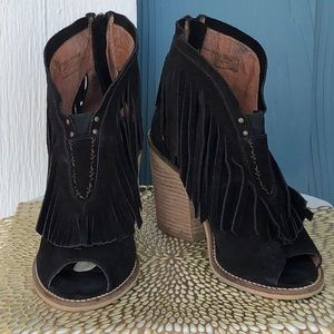 Anthropologie's Muse & Cloud Black Suede Fringe